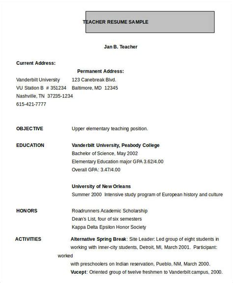 resume format for teachers in word resume in word template 24 free word pdf documents free premium templates