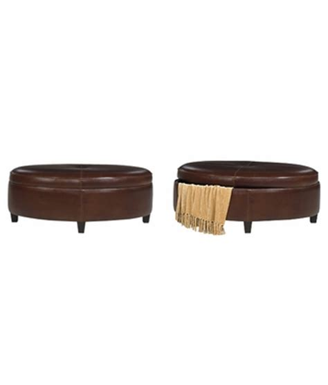 oval ottoman with storage oval storage ottoman in leather upholstery club furniture