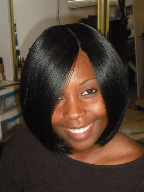 sew in bob weave hairstyles for black women sew in invisible part hair pinterest bobs human