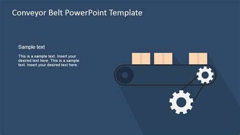 industrial revolution powerpoint template flat conveyor belt powerpoint template slidemodel