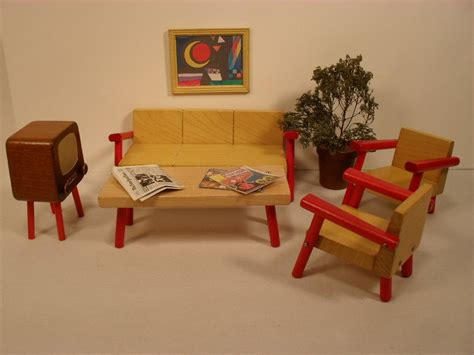 mid century modern dollhouse furniture dollhouse furniture modern living room solid wood in