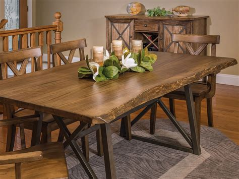 chairs for live edge table gaffney modern live edge dining table countryside amish