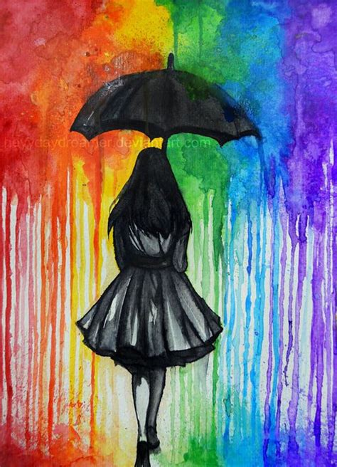 painting rainbow unique and utterly captivating umbrella to drizzle you