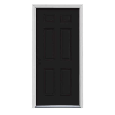 Jeld Wen 30 In X 80 In 6 Panel Black Painted W White Painting 6 Panel Interior Doors