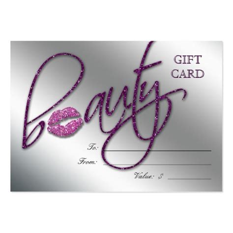 Makeup Gift Cards - makeup artist gift card business card templates bizcardstudio