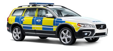 police car volvo developed a special chassis for police cars