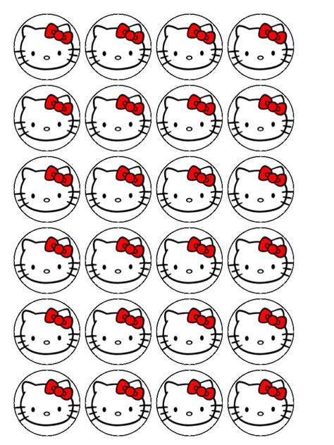 hello kitty cupcake toppers cake decorating ideas