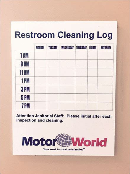 bathroom cleaning log mercedes benz 174 european restroom standards upheld