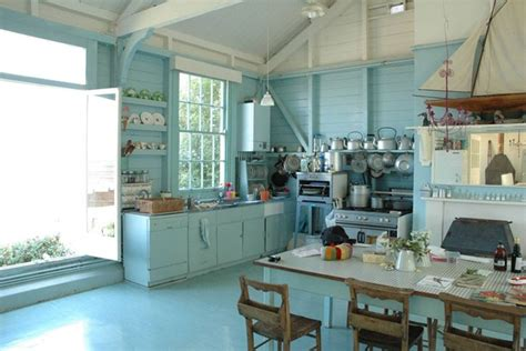 blue kitchen wallpaper uk seaside blue kitchen designs shabby chic wallpaper