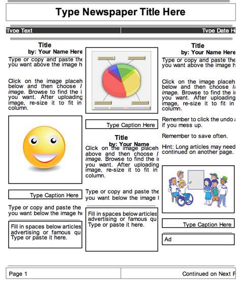 google docs newspaper template free best business template