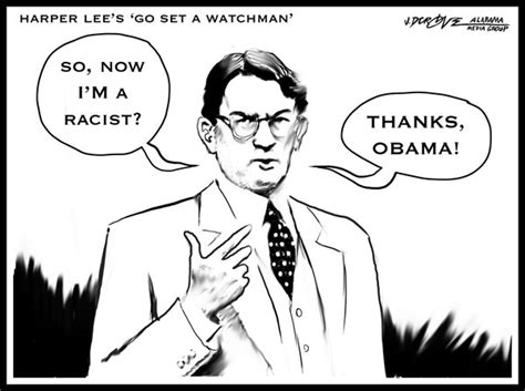 to kill a mockingbird political themes does the racist version of atticus finch in author harper