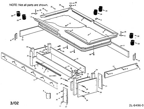pool table parts diagram sears pool table parts model 52725169 sears partsdirect