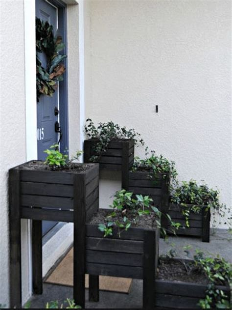 recycled wooden pallet plantersjpg  yard pinterest gardens stains  planters