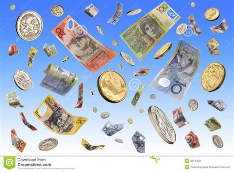 Win Money Australia - falling australian money stock photos image 6214423