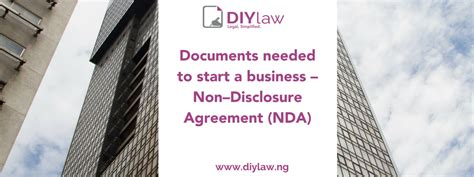 documents needed  start  business nondisclosure