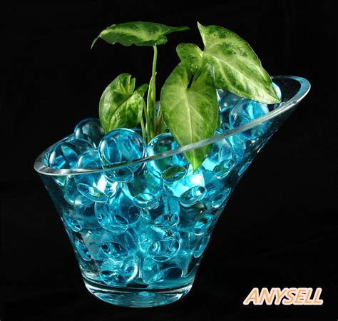 water gel wholesale 1500pcs home decoration water pearls vase filler