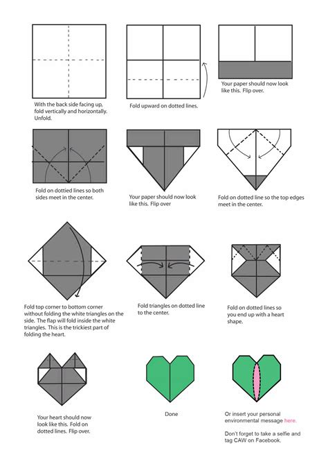 valentine origami tutorial lovers ring show your love for the environment this february caw