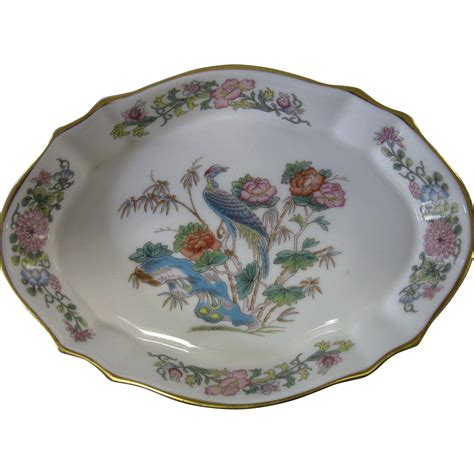 China Bone Geschirr by Vintage Wedgwood Bone China Quot Kutani Crane Quot Dish