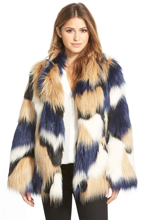 Patchwork Faux Fur Coat - makayla patchwork faux fur coat nordstrom
