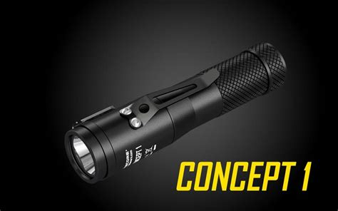 Nitecore Concept 1 Senter Led Cree Xhp35 1800 Lumens nitecore concept 1 1800 lumen cree xhp35 led compact edc flashlight
