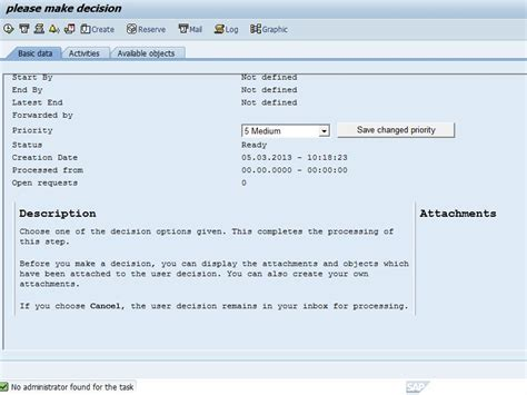 sap workflow administrator no administrator found for the task workflows