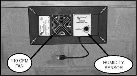 crawl space fan with humidistat volko supply foundation crawl space ventilation