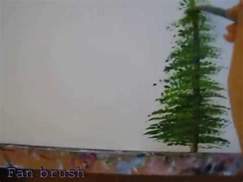 acrylic painting evergreen trees acrylic pine tree painting tutotial