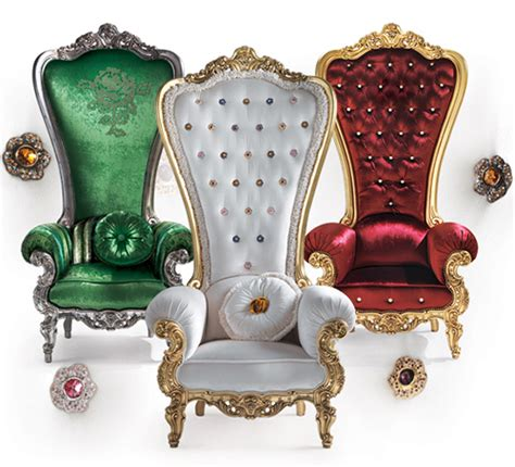 Furnitures for decor chair king and queen regal armchair throne by caspani