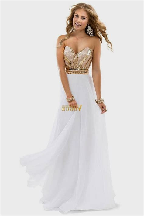 white and gold sequin prom dress naf dresses