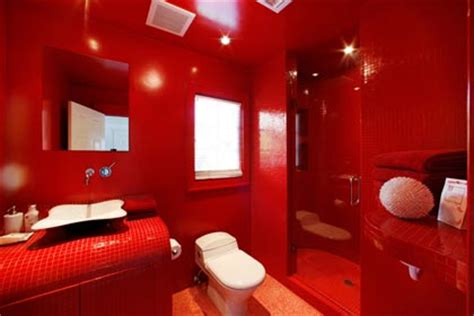red bathroom great art decoration sweet red bathroom design