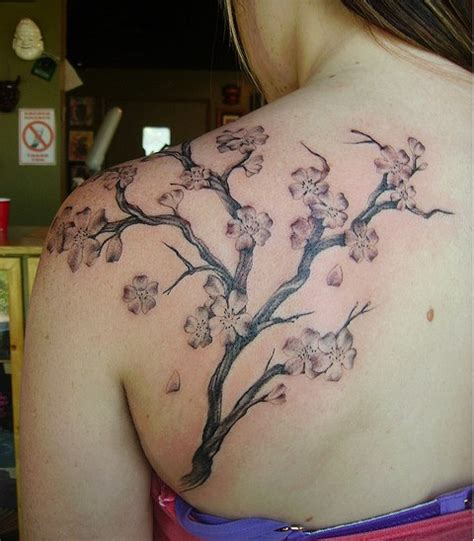 japanese cherry blossom tree tattoo custom style cherry blossoms in