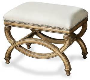 Small Bedroom Bench Karline Bench Small Transitional Upholstered Benches