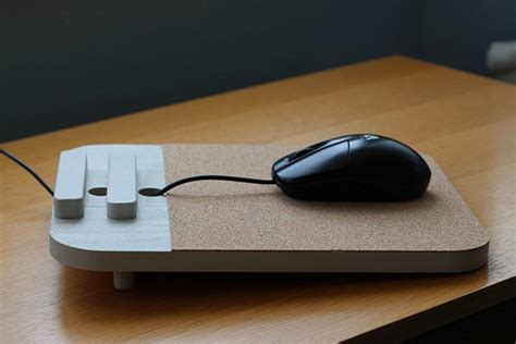 Handmade Mouse Pad - the handmade wood mouse pad with station gadgetsin