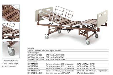 42 Inch Wide Mattress by 650 Pound 42 Inches Wide Bariatric Electric Bed Package