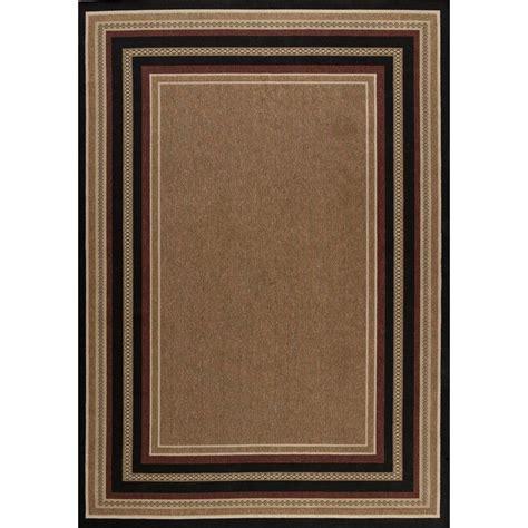 black border rug hton bay chili black border 5 ft 3 in x 7 ft 4 in indoor outdoor area rug 3110 20 55