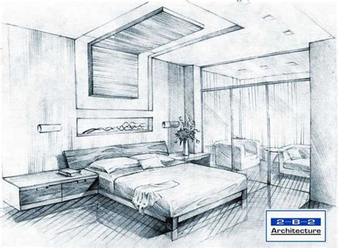 bedroom perspective interior perspective drawing 인테리어 스케치 pinterest