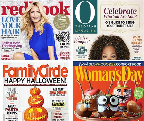 10 Magazine Subscriptions by 5 Magazines Oprah Redbook More A Buck
