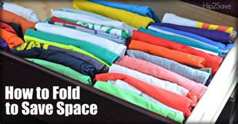 Save Space Save Space Organizing Tip Using Konmari Folding Method