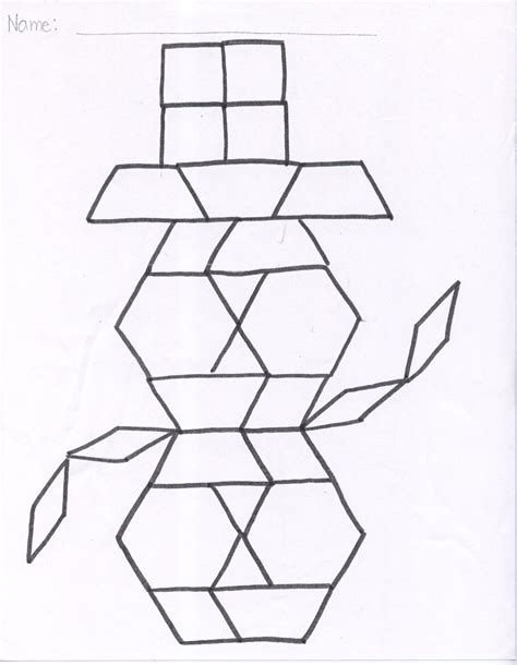 pattern block templates patternblocksnowman