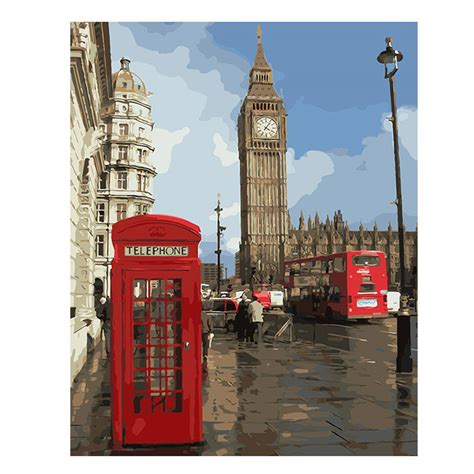 Lukisan Modern Big Ben מוצר city painting by numbers modern big ben digital wall canvas booth coloring by