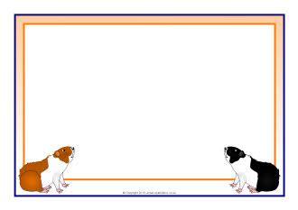 guinea pig a4 page borders (sb9115) sparklebox