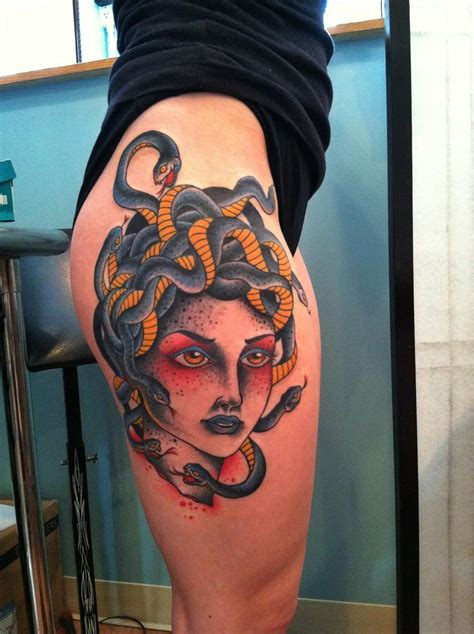 seawolf tattoo medusa traditional tattoos minneapolis mn