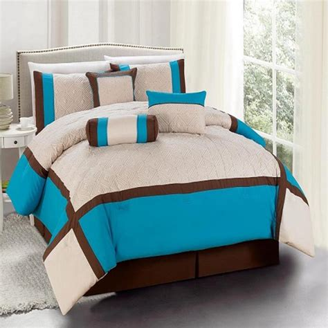 Turquoise Comforter Sets by 7 Pieces Bedding Size Comforter Set Odessa