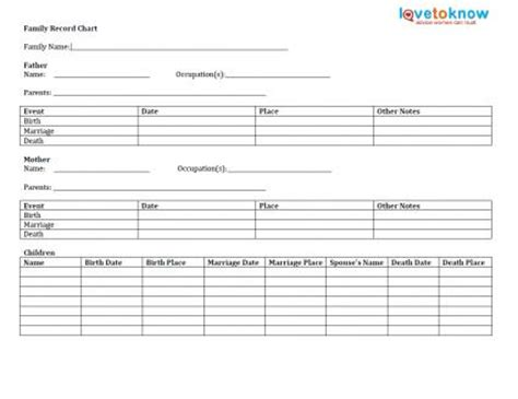 genealogy forms lovetoknow