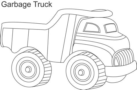 Preschool Coloring Pages Trucks | garbage truck preschool coloring pages trucks
