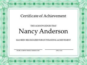 powerpoint template certificate free achievement certificate template for powerpoint