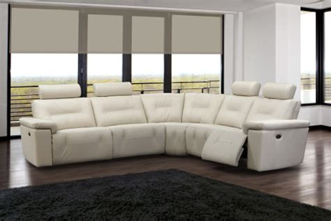 elran sectional sofa modern furniture axel reclining sectional by elran