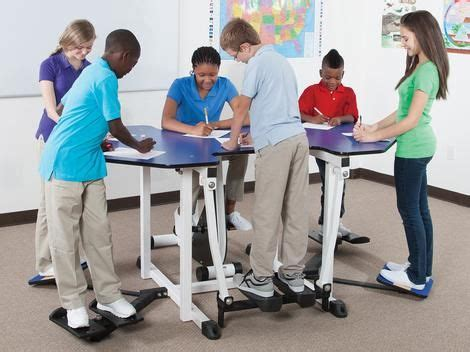 Activity Station Desk by Kinesthetic Classroom 6 Student Collaborative Workstations