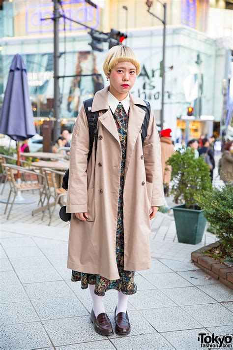 Baju Dress Axes Femme Japan bob trench coat axes femme dress loafers in harajuku