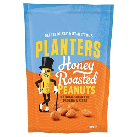 morrisons planters honey roast peanuts 180g product